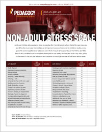holmes and rahe stress scale non adults pdf